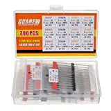 HUAREW 12 Values 300 Pcs Rectifier Diodes 1N4001...