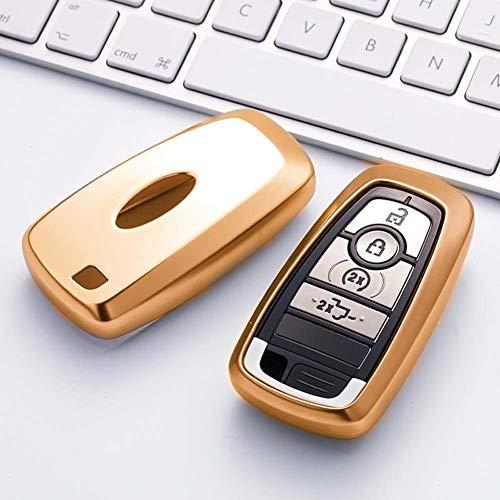 AMLaost Carcasa de soporte para coche, llavero, llavero, 2020, nueva carcasa de TPU para llave de coche, cubierta de protección para llave de coche, para Ford Focus Kuga Mondeo
