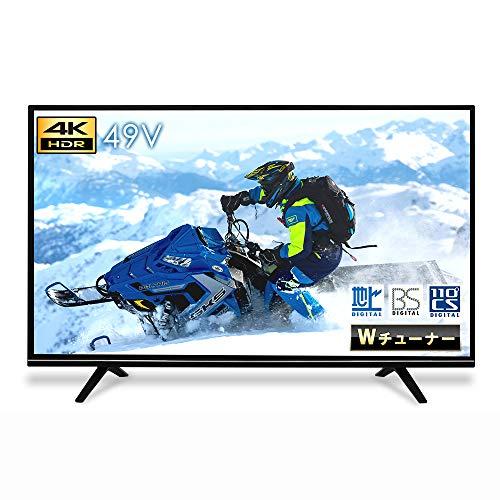 LUCA 4K対応テレビ 49インチ LT-49A620 ブラック アイリスオーヤマ