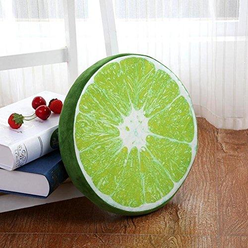 AMYDREAMSTORE Fruits Peluche Épaissir Coussin Tatami Chaise Assise Tapis de Sol Coussin de Chaise berçante Sofa éponge Imperméable Oreiller extérieur-C 32x32x4cm(13x13x2)