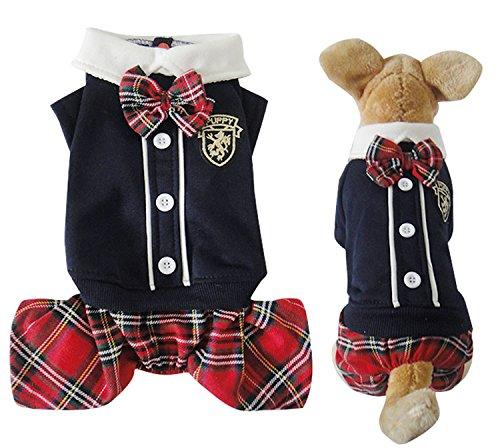 Stéréo Motif Poisson Rouge Vêtements pour petit chien chiot vêtements costume rouge 2015 XS-XL