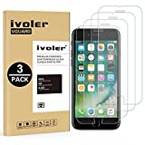 ivoler [3 Unidades] Protector de Pantalla para iPhone 8/7 / 6 / 6S, Cristal Vidrio Templado Premium