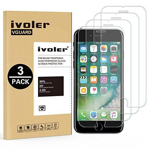 iVoler [3 Pack] Pellicola Vetro Temperato per iPhone 8/7 / 6 / 6S 4.7'', Pellicola Protettiva, Protezione per Schermo