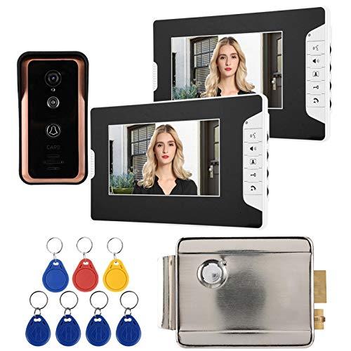 7in 1V2 Monitores Videoportero con videoportero con Cable, Videoportero,(European Standard (100-240v))