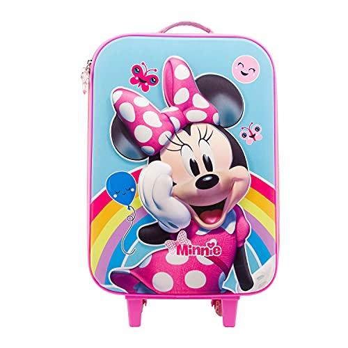KARACTERMANIA Minnie Mouse Rainbow-Maleta Trolley Soft 3D, Multicolor