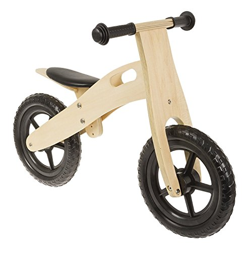 M-Wave Bicicleta Infantil de Madera sin Pedales de 12 Pulgadas de Color Negro