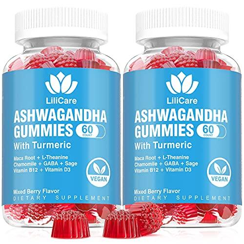 2 Pack Ashwagandha Gummies 2000mg Organic Ashwa...