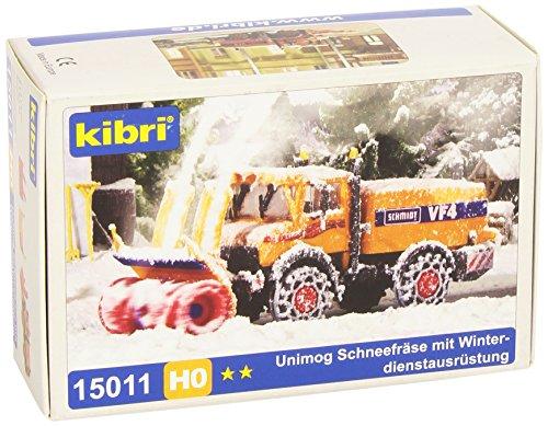 Kibri 15011 - H0 Unimog Schneefräse mit Winterdienstausrüstung