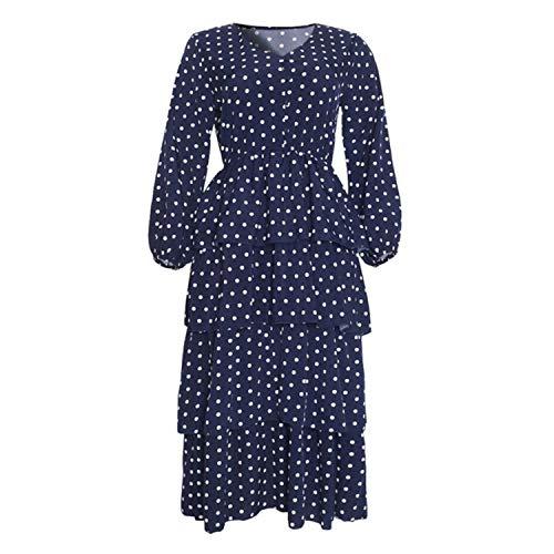 SHWPAKFA Vestidos de impresión de puntos africanos para las mujeres dashiki patchwork ropa africana más tamaño retro África bodycon túnica 2021 primavera otoño