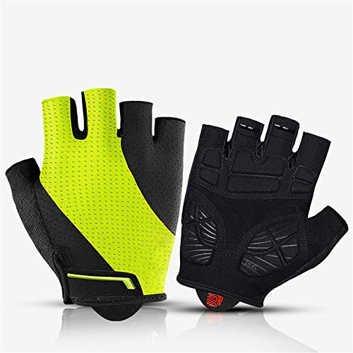 YQ&TL Gloves Bike Cycling Gloves for Men Bicycle Gloves Half Finger Riding Outdoor Mountain Bike Bicycle Shockproof Breathable Motorcycle Climbing Fitness Sports Road Bike Gloves A S