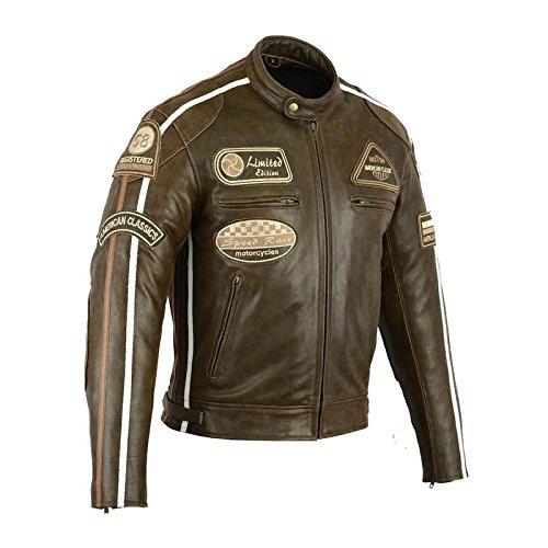 Blouson Moto Cuir Biker REF: 7868 (XL)