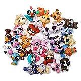 Juego de 20) LPS Gato Animal Juguete Pequeño Mini Mascota Figuras de Acción Juguetes Animal Lindo Gato Perro Canina Figuras de Acción Juguetes Niños 2021 Colección