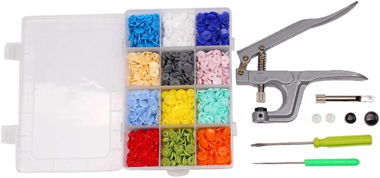 Hemobllo Professionelle Fastener Snap Zangen Zangen Zangen und 300 Stück T5 Snap Poppers Kunststoff Buttons Kit B07JRG846Q  Elegante und robuste Verpackung f9d2e4
