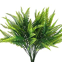 Artificial fern plant with this lush green are light, fluffy and full and lush, what's more looks completely real! Add greenery for floral arrangement, get the fullness for some space, make a fun centerpiece at kitchen or table Ffake asparagus fern a...