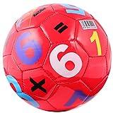 WINOMO Bola de juguete de juguete de fútbol colorido en forma de bola de deporte al aire libre padres y niños juguete de bola elástica educativa temprana para niño niña (color al azar)