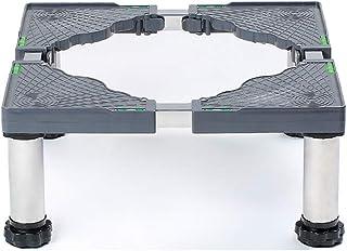 Socle pour Machine à Laver avec 4/8/12 Pieds RéGlables en Hauteur 19-22cm Support De RéFrigéRateur Socle Lave Linge SèChe-...