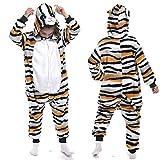 YQ&TL Pijamas de Cosplay para niños, Ropa de una Pieza Unisex, Pijamas de Animales, Monos de Carnaval Pijamas de una Pieza C 140cm