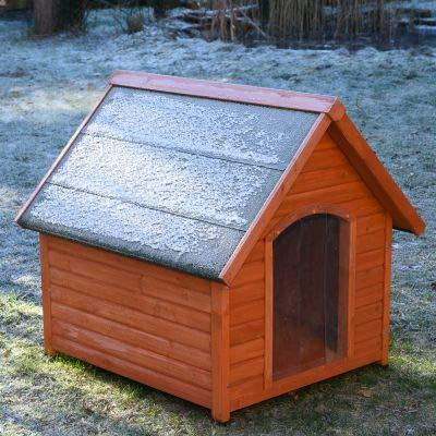 Spike All Season - Caseta para Perro de Doble Pared, Techo con Aislamiento de poliestireno y Puerta de plástico (93 x 86 x 84 cm)