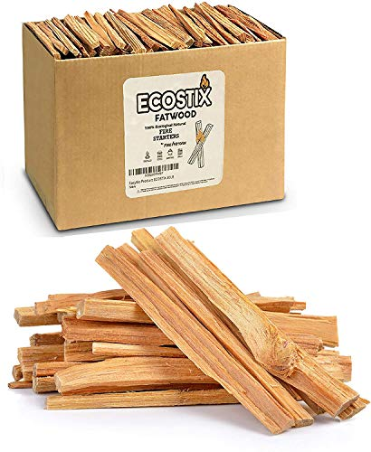 EasyGoProducts Approx. 240 Eco-Stix Fatwood Starter Kindling Firewood Sticks Wood Stoves Camping Firestarter Fire Pit BBQ, 20 Lbs