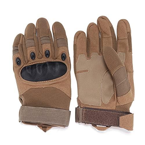 YGLONG Guantes de motocicleta guantes de motocicleta para deportes al aire libre, carreras, motocross, guantes protectores transpirables (color: marrón, tamaño: XL)