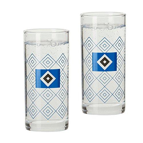 2er Set Trinkgläser Trinkglas Glas Hamburger SV HSV
