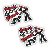 folien-zentrum 2X Dont Touch My Quad Aufkleber Shocker Hand Auto JDM Tuning Dub Decal Stickerbomb...