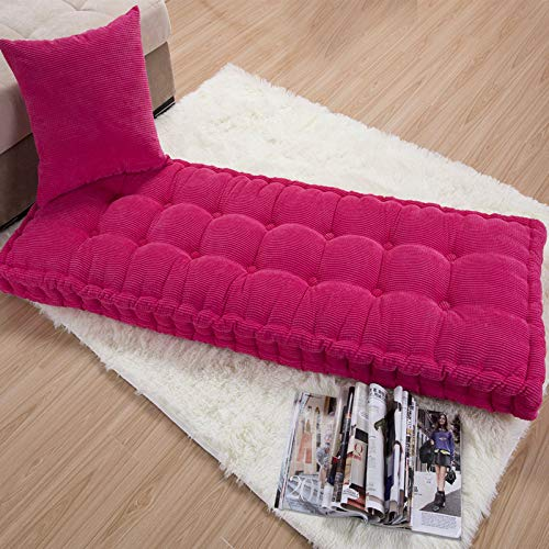 GJBHD Bench Cushion,Thicken Sponge Not-slip Cushion Wood Sofa Chinese Style Three Seater Universal Bay Window Cushion Loveseat Cushions Outdoor Patio Indoor