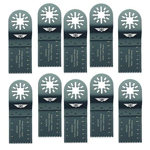 10 x 35mm TopsTools UN35J_10 Holz Schneiden Klingen für Bosch Fein (Nicht-StarLock) Makita Milwaukee Parkside Ryobi Worx Workzone Multifunktionswerkzeug Oszillierwerkzeug Zubehör
