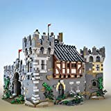 CALEN Juegos modulares de construcción de casas, 7500 unidades de edificios modulares para pirata isla pirata bahía castillo modelo kits de construcción, compatible con Lego Medieval Herrero Shop