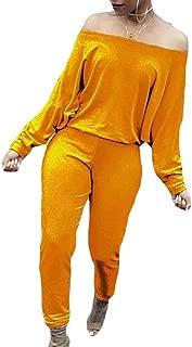 Women's Jumpsuits Off Shoulder Long Sleeve Playsuits Romper Jumpsuit
