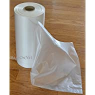 "Clear Plastic Bags On Roll, 10"" W x 15"" H (Width x Height), HDPE, 10 Micron, 500 Bags/Roll, 4 Rolls/Case, 2000 Bags/Case"