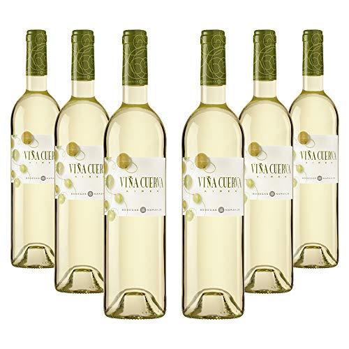 Viña Cuerva Airen - Vino blanco D.O. La Mancha - Caja de 6 botellas x 750 ml