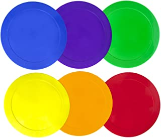Ace Creations 9 Inch Poly Vinyl Spot Markers – For Training and Drills – Set of 6 – One of Each Red, Green, Orange, Purple, Blue, and Yellow