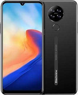 Blackview A80 Android 10 Teléfono Móvil 4G, Pantalla HD + 6.21 Pulgadas, Cuatro Cámaras Traseras, Quad Core 2GB + 16GB, Batería 4200mAh, 8.8 mm Diseño Elegante y Delgado, Dual SIM Smartphone Negro