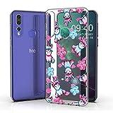 JIENI Hülle für HTC Desire 19 Plus,Weich Silikon Transparent Flexibel Rosa Einhorn Schutzhülle Stoßkasten Handyhülle Hülle Bumper Handytasche TPU Schale Cover für HTC Desire 19 Plus (6.2