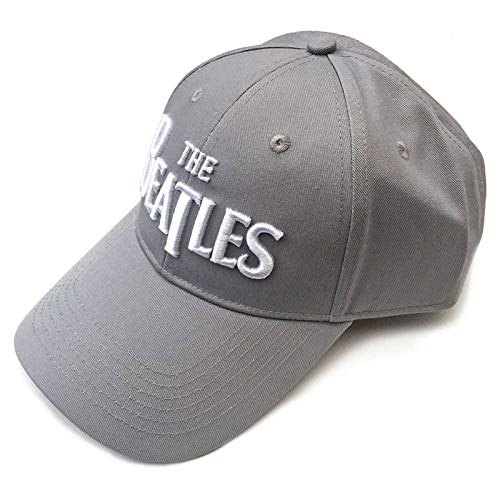 The Beatles Baseball Cap Classic Drop T Band Logo Nue offiziell Grau