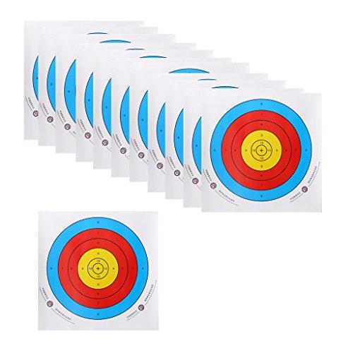 perfk 12pcs Scheibenauflage Bogenschießen Zielscheibe, 40x40cm