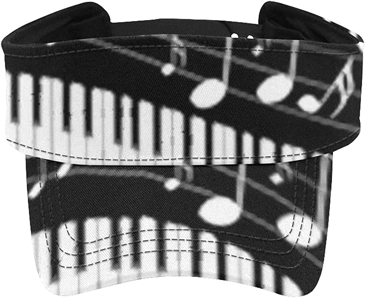 Sun Bargain Super sale period limited sale Visor Hat Abstract Illustration Keys Piano Musical Notes