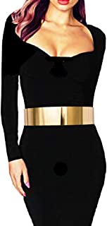 Metal Polished Plain Mirror Waist Chain Belt in Gold, Silver, Rose Gold Tone