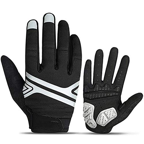 HUBi Winter einen.Kreislauf.durchmachenhandschuh, Unisex Anti-Rutsch-Winddichtes Touch Screen Warm Sport-Handschuhe, Geeignet for Ridling/Klettern/Skifahren (Color : Black, Size : XXL)