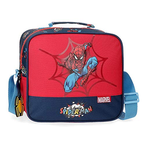 Marvel Spiderman Pop Neceser Adaptable con Bandolera Multicolor 23x20x9 cms Poliéster