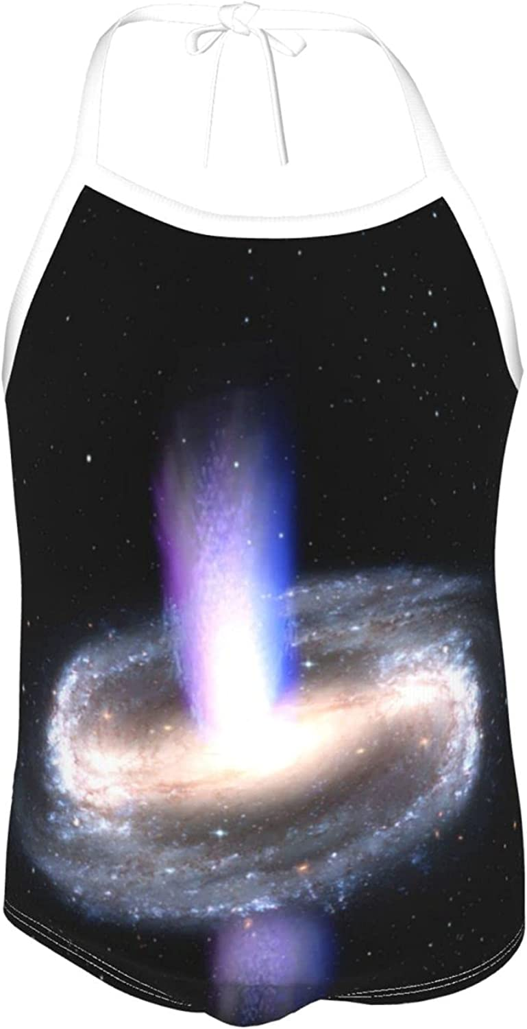 Lianmei Girls One Pieces Swimsuit W_Spiral Galaxy Space Beach Sport One Piece Swimsuit Beach Swimwear for Toddler Girl 2-6