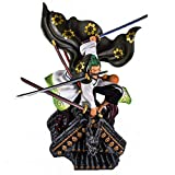 Liiokiy 50 cm Anime Figura PVC One Piece Figura Roronoa Zoro Modelo Hecho A Mano Juguetes 1/6 Juegos...