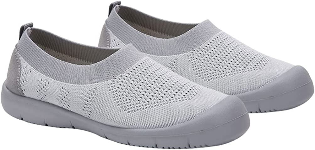 Holibanna Women Sports Shoes Soft Shoes Flat Bottom Breathable Mesh Sneakers Shoes Women Outdoor Shoes Walking Shoes 1Pair