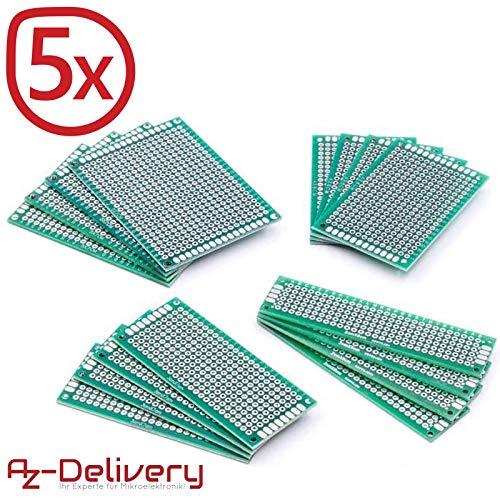 AZDelivery 80 x PCB Board Set Lochrasterplatte Lochrasterplatine Leiterplatte für Arduino