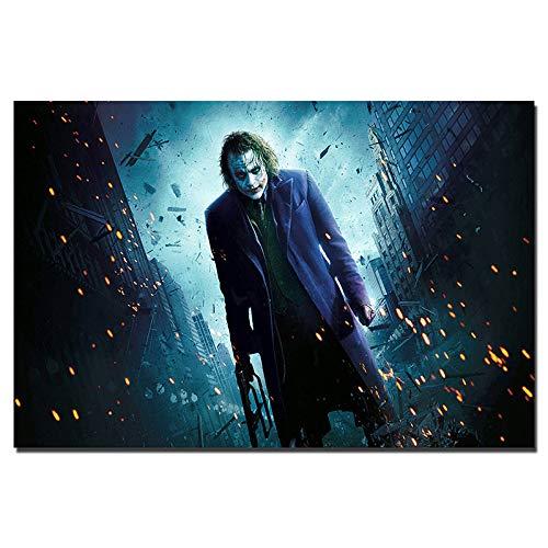 Sakkdaull nti Joker The Dark Knight ati Ölmalerei-Kit für Anfänger für Erwachsene, 16 x 20 Zoll, DIY Malen nach Zahlen