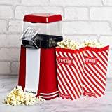 Home Treats Electric <span class='highlight'>Popcorn</span> Maker with <span class='highlight'>Popcorn</span> Boxes | Retro <span class='highlight'>Popcorn</span> Maker Machine with Measuring Cup & Removable Lid