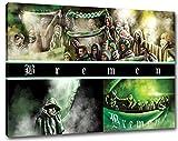 Ultras-Art BremenCollage Format: 80x60, Bild auf Leinwand