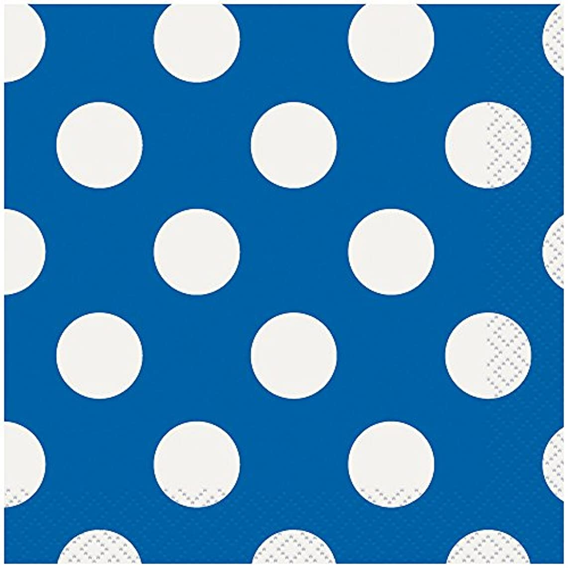 Royal Blue Polka Dot Beverage Napkins, 40ct