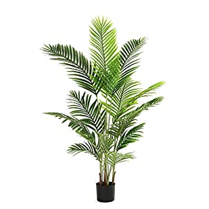 """Silk Flower Arrangements DIIGER Artificial Tree 55"""" Faux Paradise Palm Tree Conifer Plant Modern Large Fake Plant Decor in Pot for Indoor Outdoor,Home Office Perfect Housewares Gift Decoration"""
